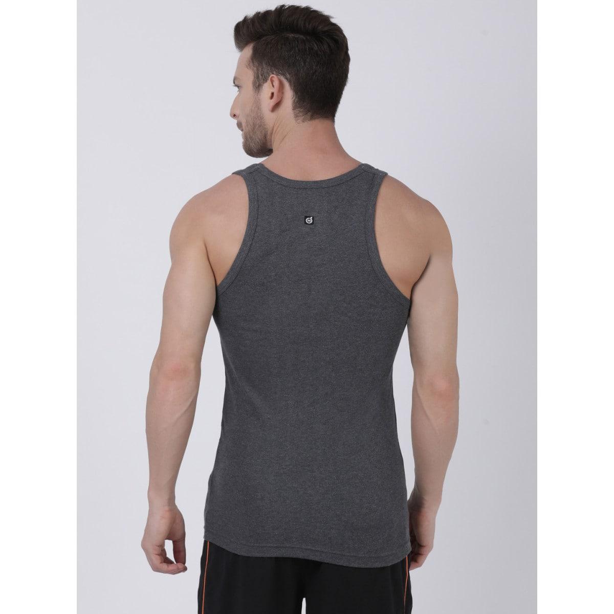 Macroman Derby Vest Black Melange #M121 (M,Black Melange)