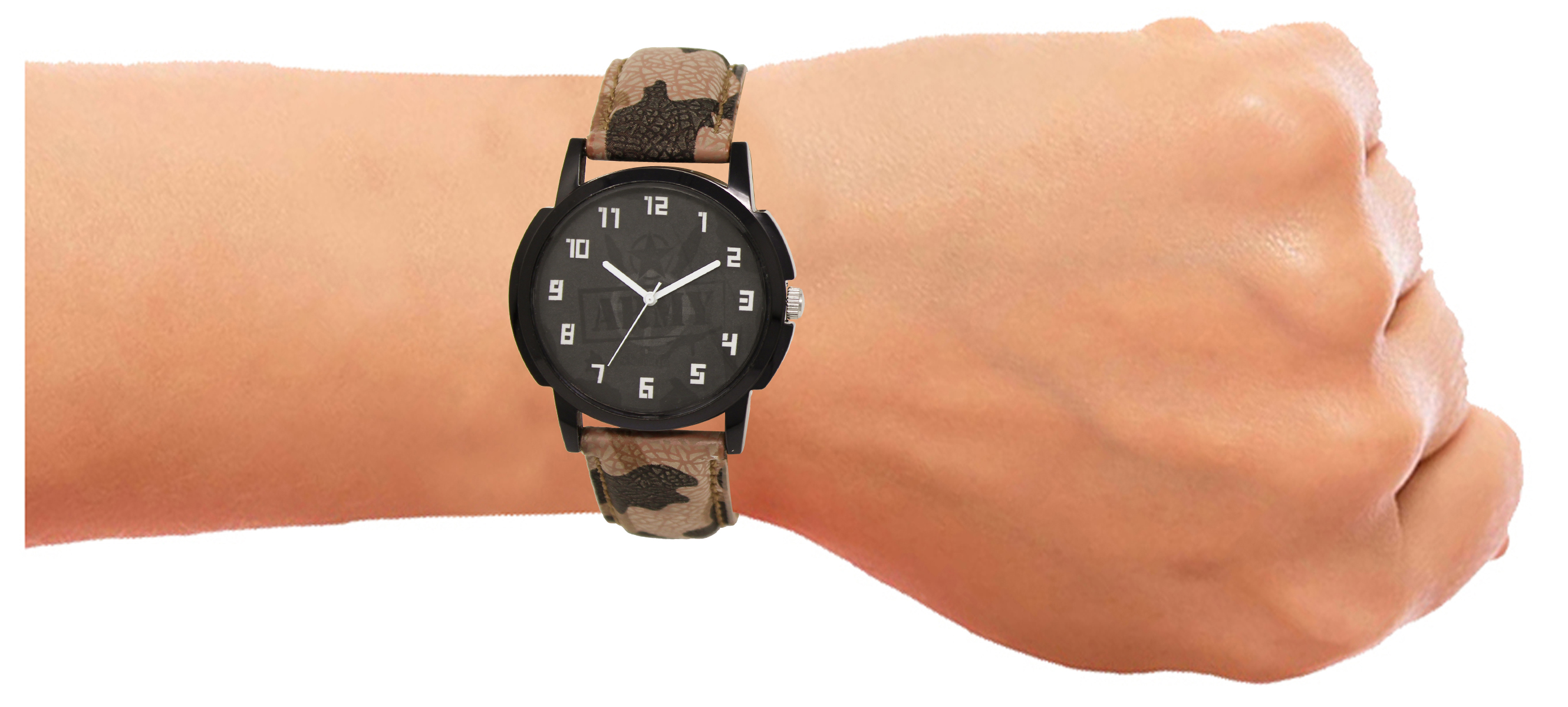 LOREM Casual Army Design Pick Color Military Analog Watch