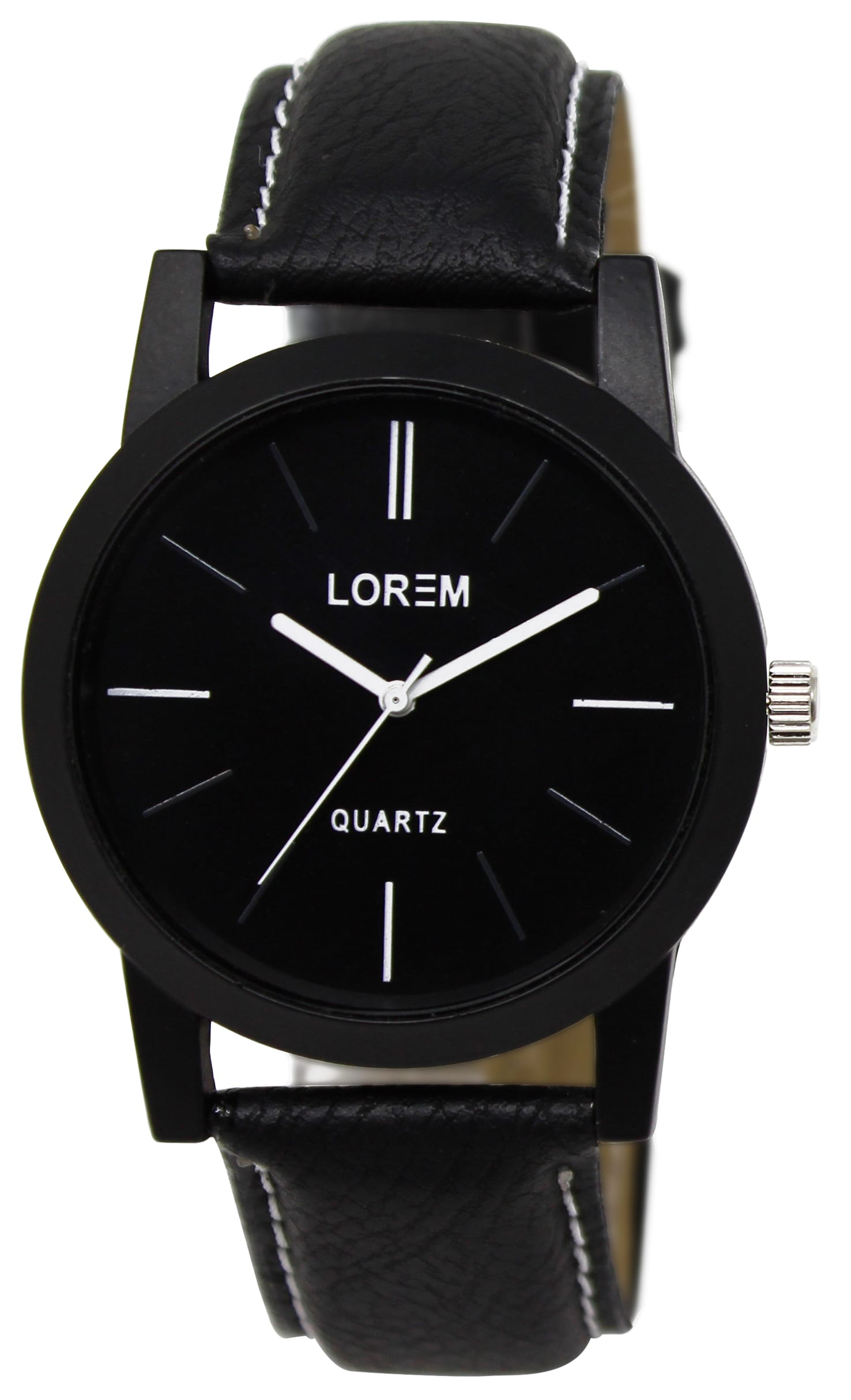 New Arrival Analogue Black Dial Men's Wrist Watch