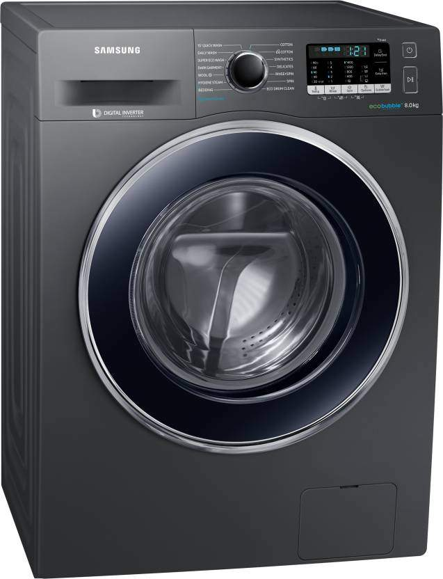 Samsung 8 Kg Fully Automatic Front Load Washing Machine With In-built Heater Grey (WW80J54E0BX/TL)