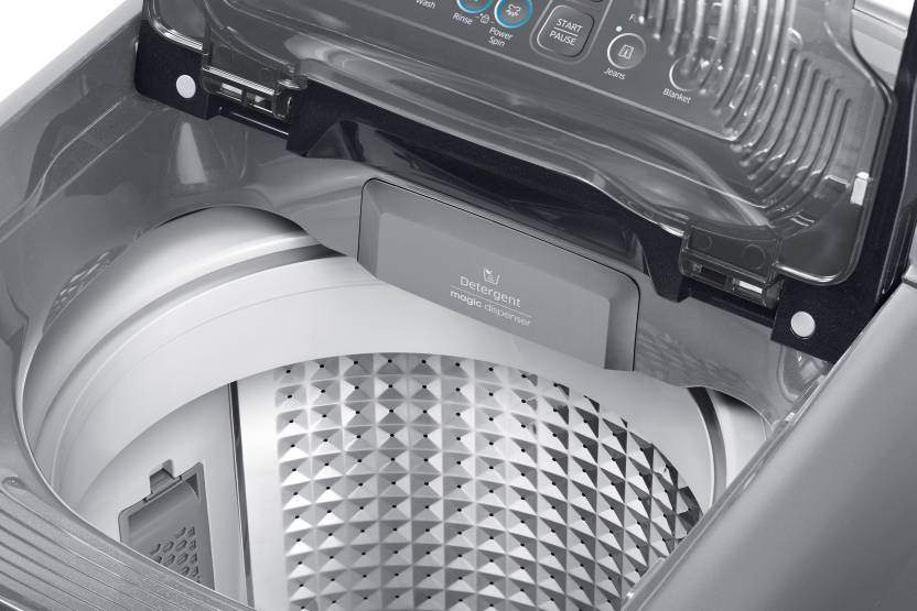 Samsung 7 Kg Fully Automatic Top Load Washing Machine With In-built Heater White, Grey (WA70N4420BS/TL)