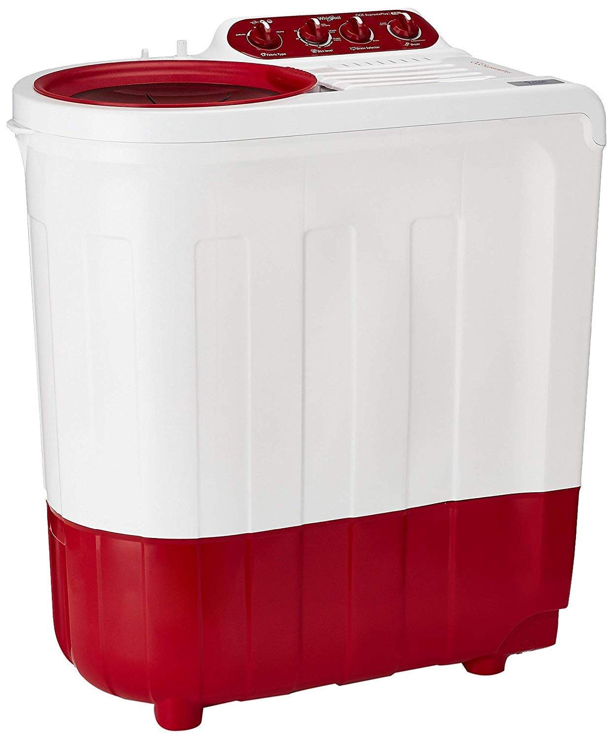 Whirlpool 7.2 Kg Semi-Automatic Top Loading Washing Machine (Ace Supreme Plus, Coral Red)