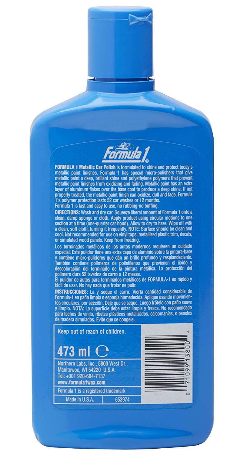 Formula 1 Metallic Car Polish 473ml