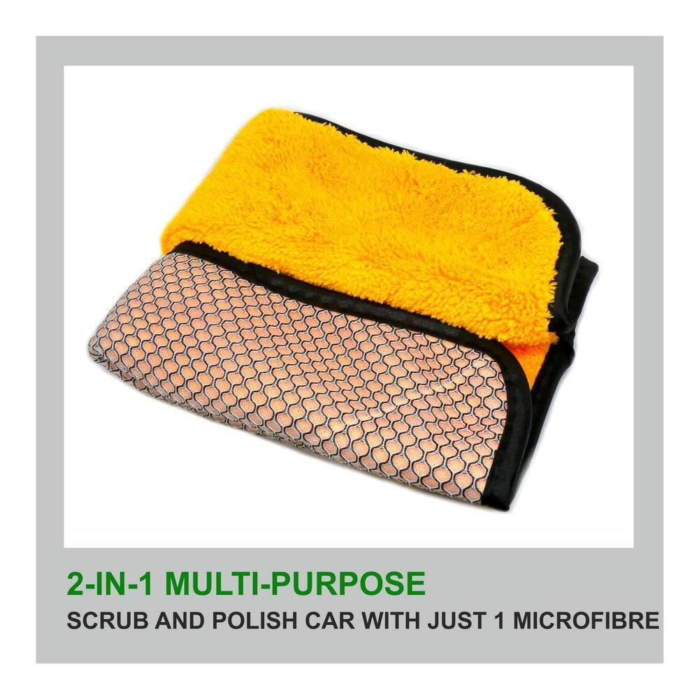 Bergmann 2 In 1 Clean + Scrub Microfibre Cloth