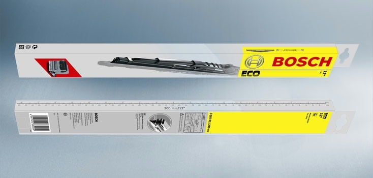 "Bosch Conventional Metal Wiper Blade (ECO)  19"" Single (475mm) 3397011647END"