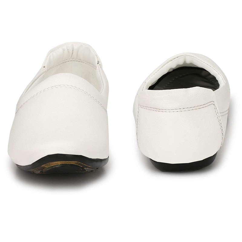 Almighty Casual White Ethnic Nagra Shoes For Men's N001WHI (White, 6-10, 8 PAIRS)