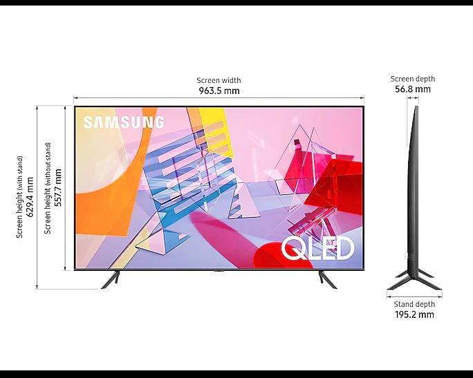 "SAMSUNG (QA43Q60TAKXXL) 108cm (43"") 4K Smart QLED TV"