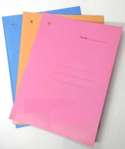 Office Tag File/Office Stationery (5 Pieces, Colour May Vary)