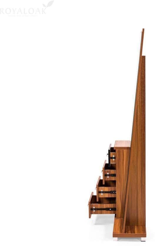 RoyalOak Tower Engineered Wood Dressing Table(Finish Color - Honey Brown)