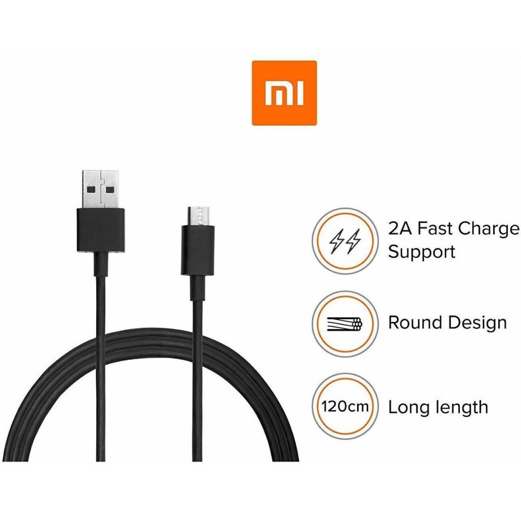 MI USB CHARGING CABLE 1.2 M MICRO USB CABLE   (COMPATIBLE WITH ANDROID AND OTHER MICRO USB SUPPORTED DEVICES, BLACK)