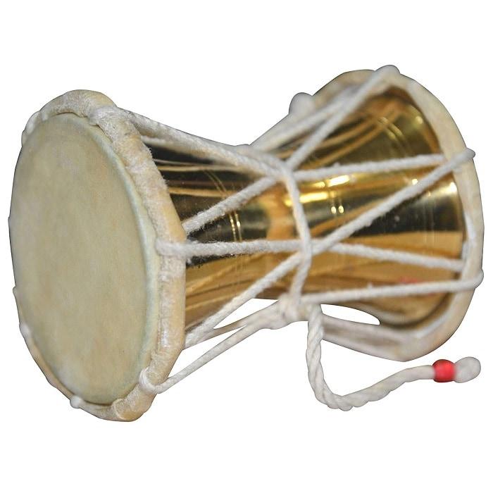 Numeroastro Beautifully Handcrafted Brass Damru | Damroo |Shiva Damru For Puja (12 Cms) (1 Pc)