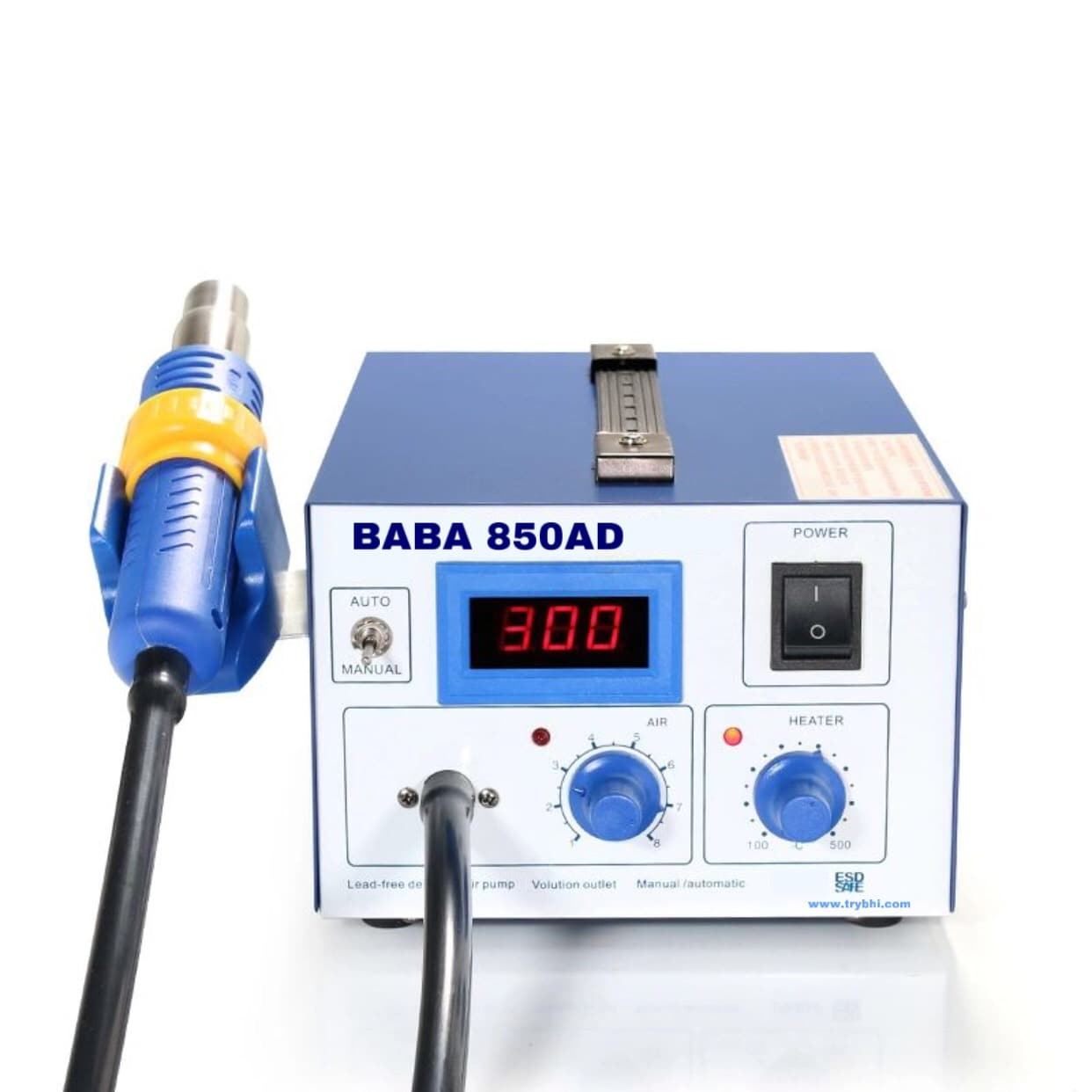 BABA 850 AD SMD Rework Station Digital Display Best SMD Station Plastic Burn Free
