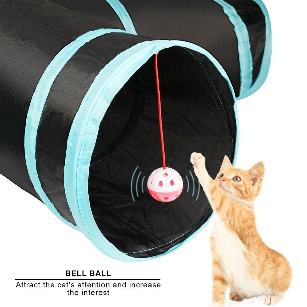 Pets Empire Cat Tunnel Pet Toy Tunnel 4 Way Collapsible Cat Tube Crinkle Pop Up Tunnel Set Pet Toys,Pack Of 1