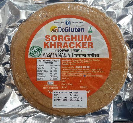 Dr. Gluten Sorghum Khakra Masala Mania - Gluten Free