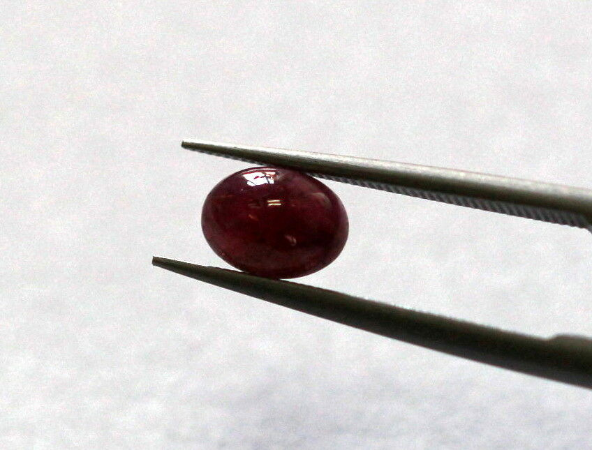 0.78 Ct Ruby Africa Oval Cabochon Natural Gemstone Certified