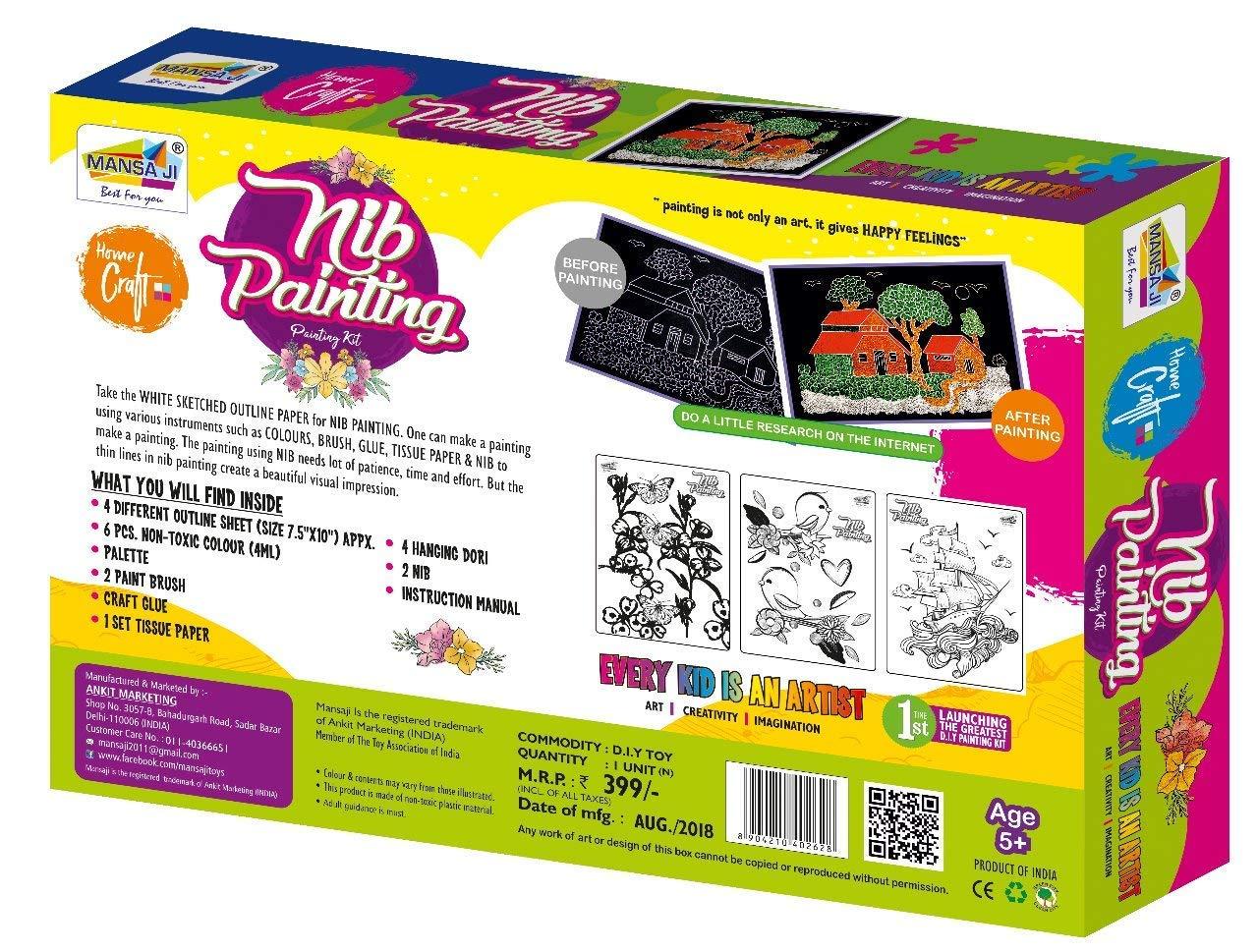 Mansaji's Beautiful Nib Painting Kit For Kids