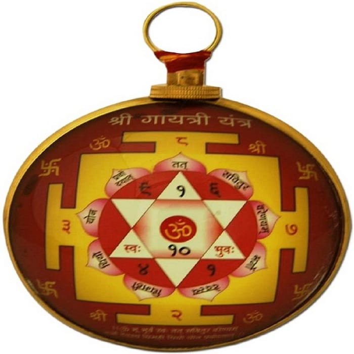 Numeroastro Shri Gayatri Yantra Hanging For Prosperity & Success In Life Brass Yantra (Pack Of 1)