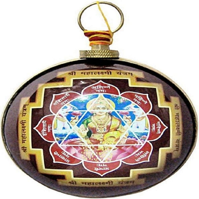 Numeroastro Shri Mahalaxmi Yantra Hanging For Wealth In Brass Yantra (Pack Of 1)
