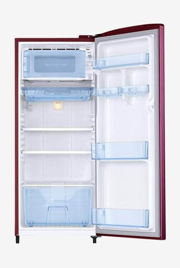 Samsung RR20N1Y2ZR3/HL 192 L INV 3 Star Direct Cool Single Door Refrigerator (Rosemallow Red)