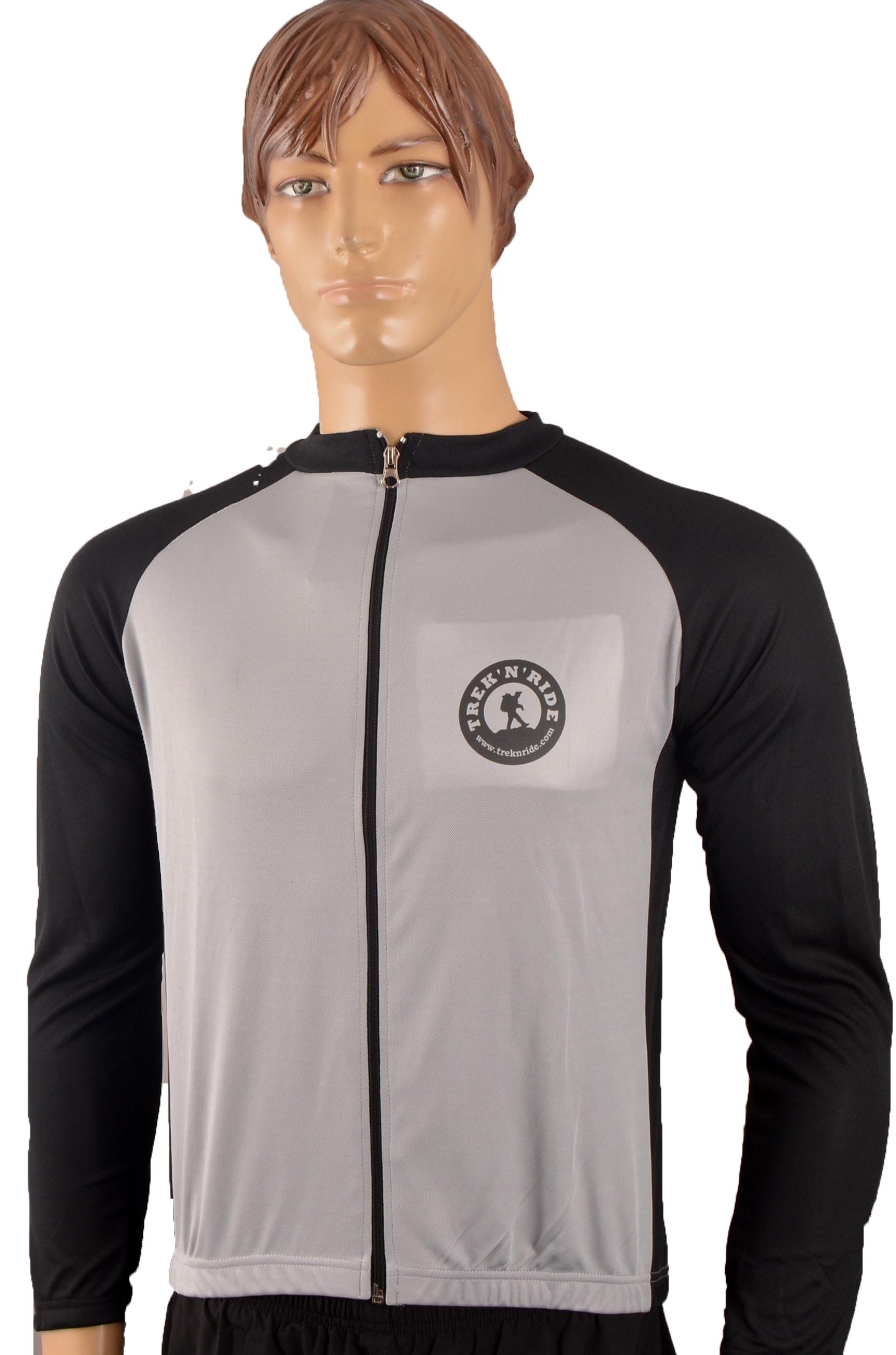Full Sleeve Cycling Jersey TNR (Black & Grey,M) (Black & Grey,L)
