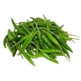 Chilli Green Dark/ Hari Mirchi - Kedia Farm Fresh (Weight Can Vary)
