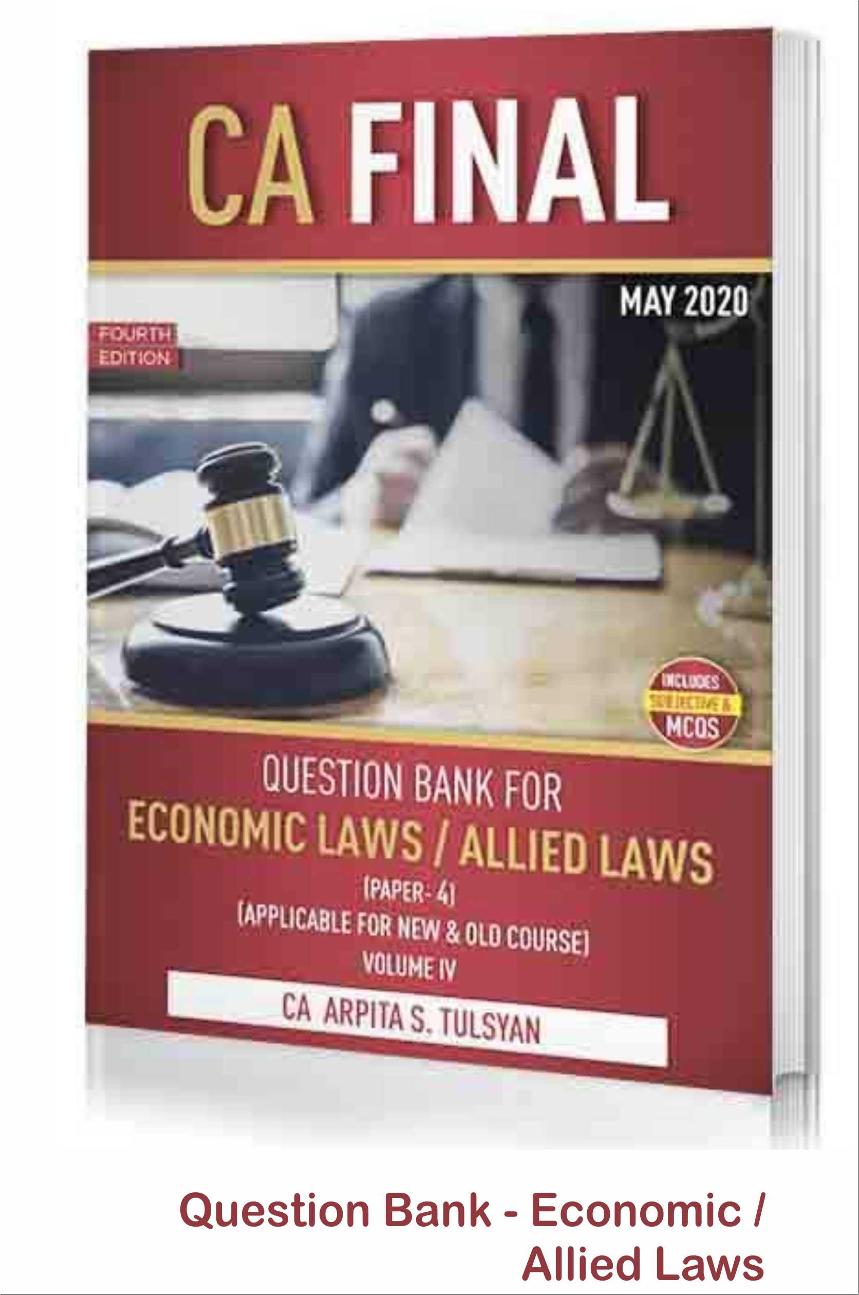 CA Final Hand Written Book On Corporate & Allied / Economic Laws (Old And New Syllabus Both )By CA Arpita S. Tulsyan Applicable For May 2020 Exam