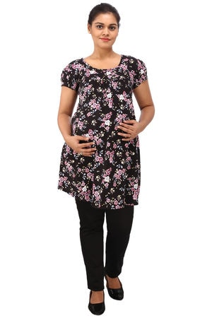 78ed9056c2d6b Black. Sold Out. This item is currently out of stock. Description. Mamma's  maternity - Women's Black Rayon Maternity Top ...