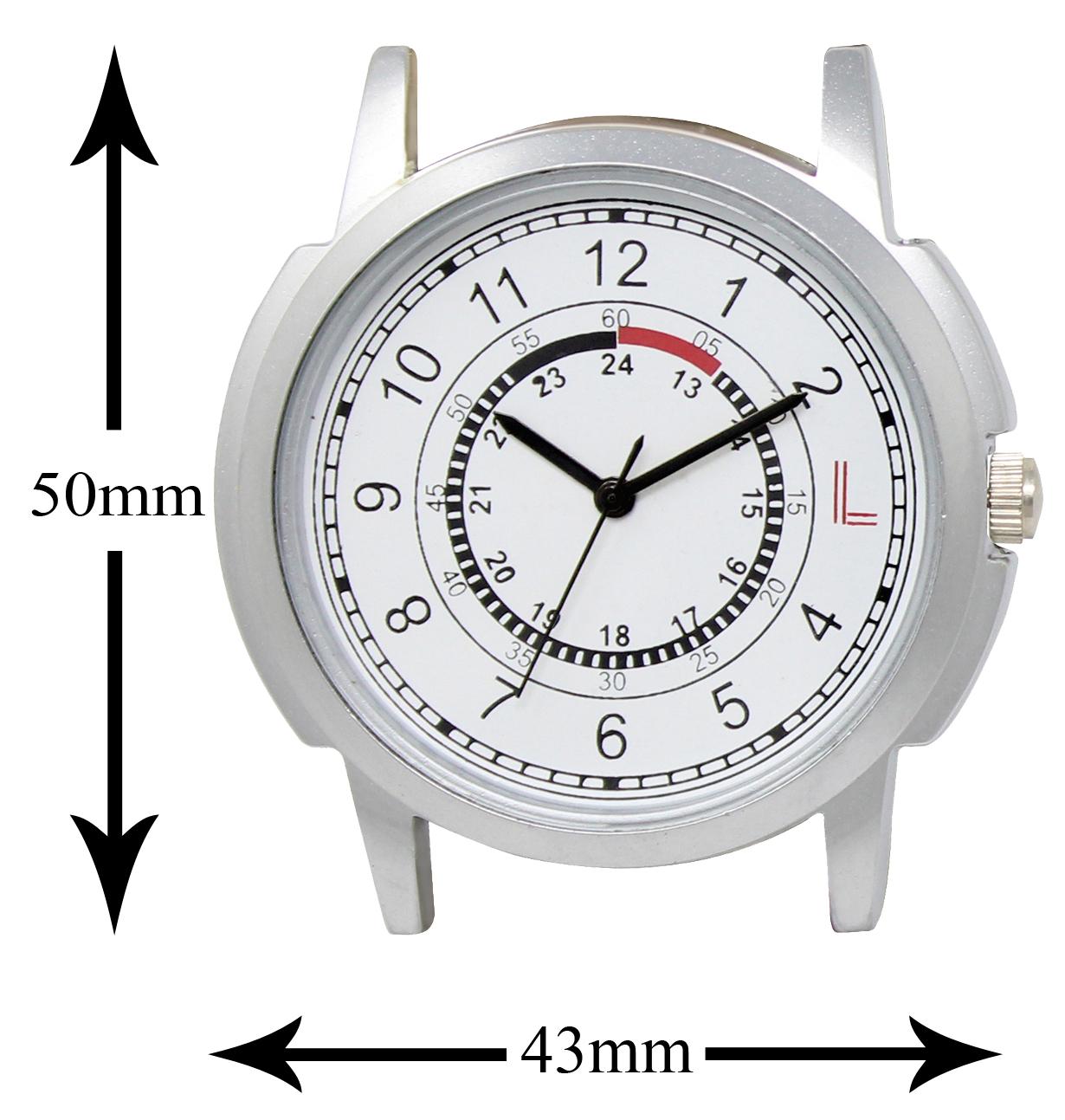 LOREM  White-Brown Round Leather Analog Watch - For Men