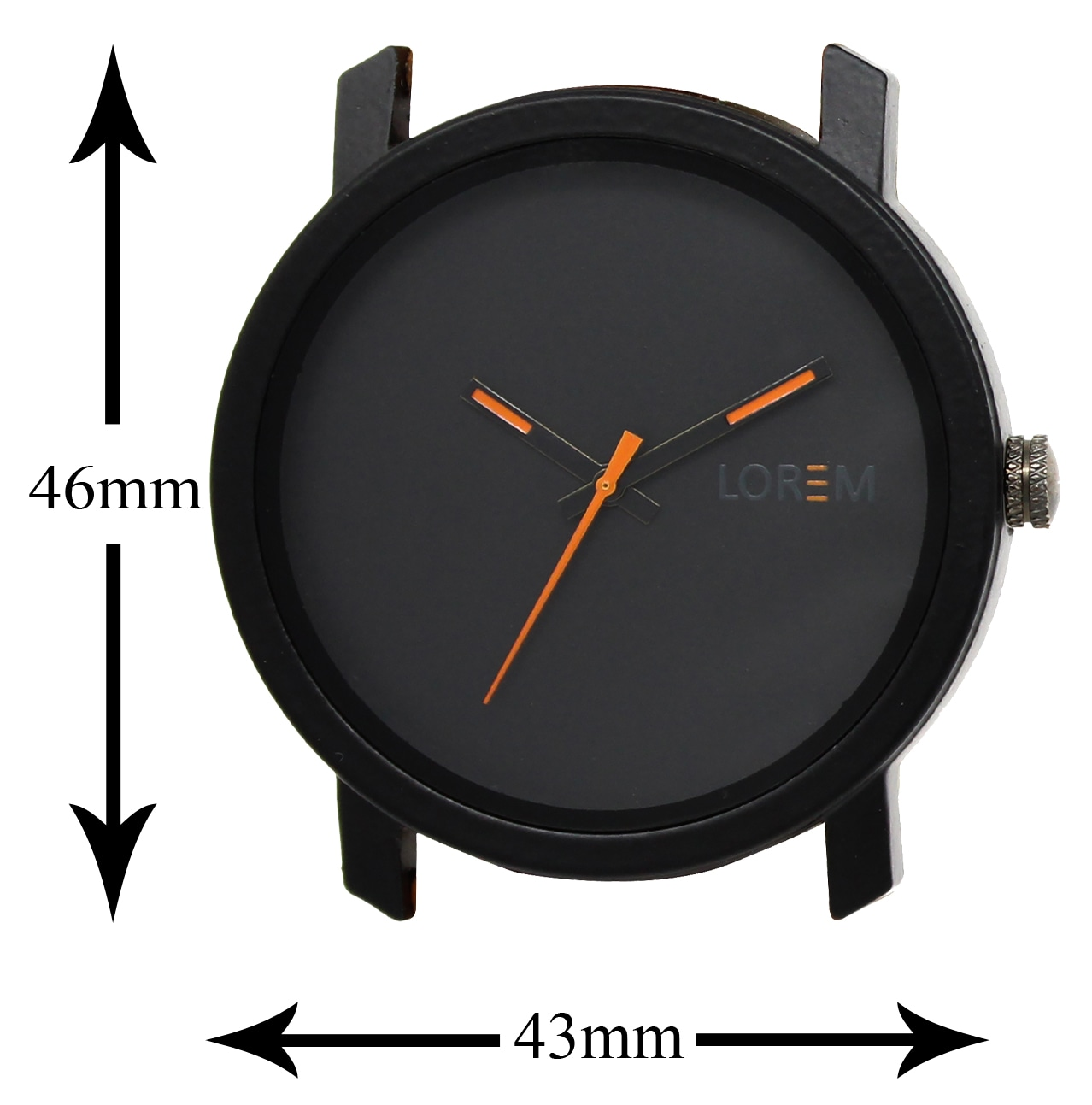 LOREM Analogue Black Dial Watch For Men And Boys