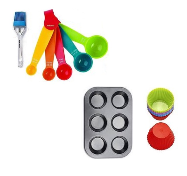 Bakeware Muffin Cups Baking Tray 6 Cups With Accessories Tools