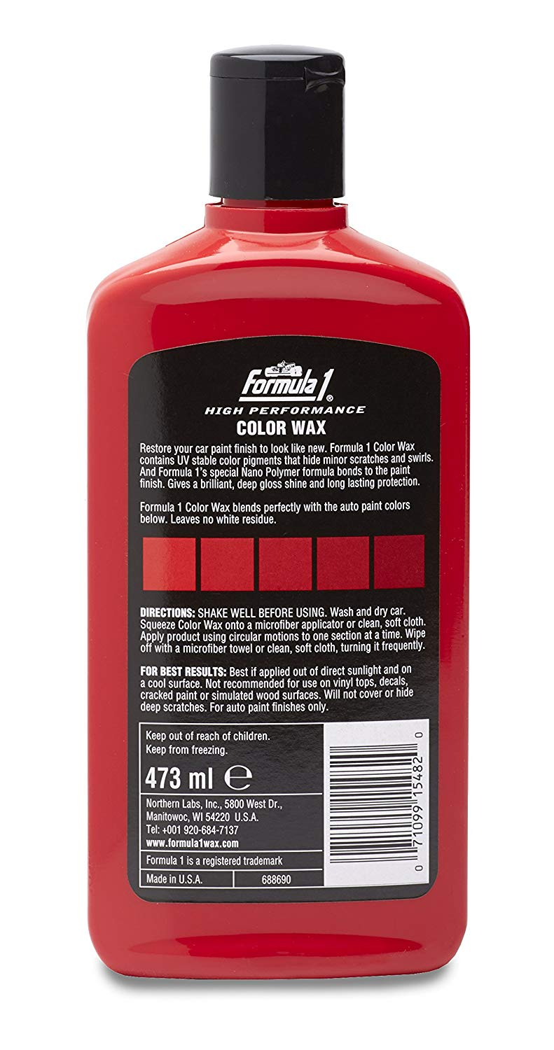 Formula 1 Color Wax 473ml (White/Black/Red/Silver)