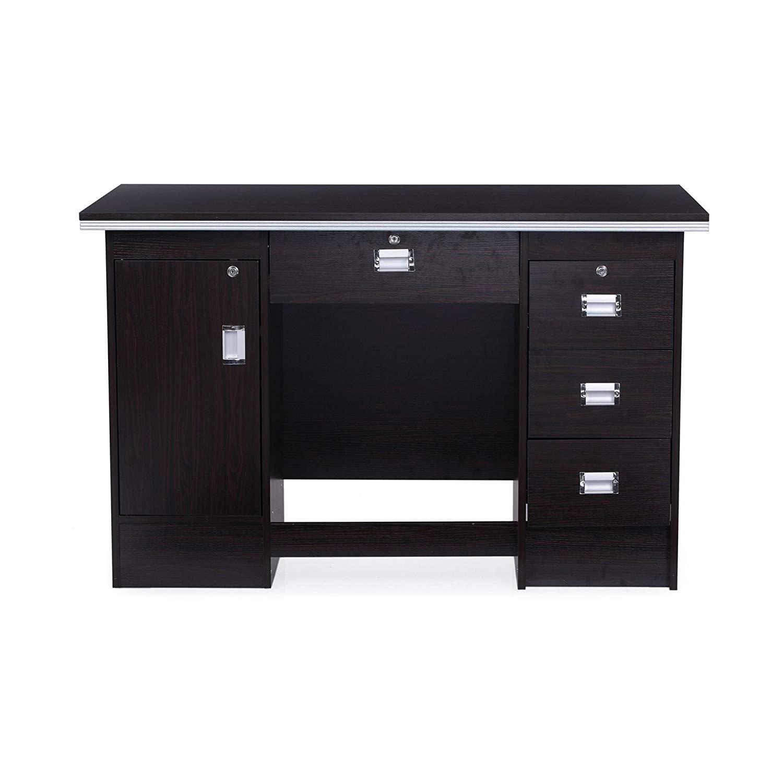 Nilkamal Recardo Office Table (Walnut Finish, Brown)