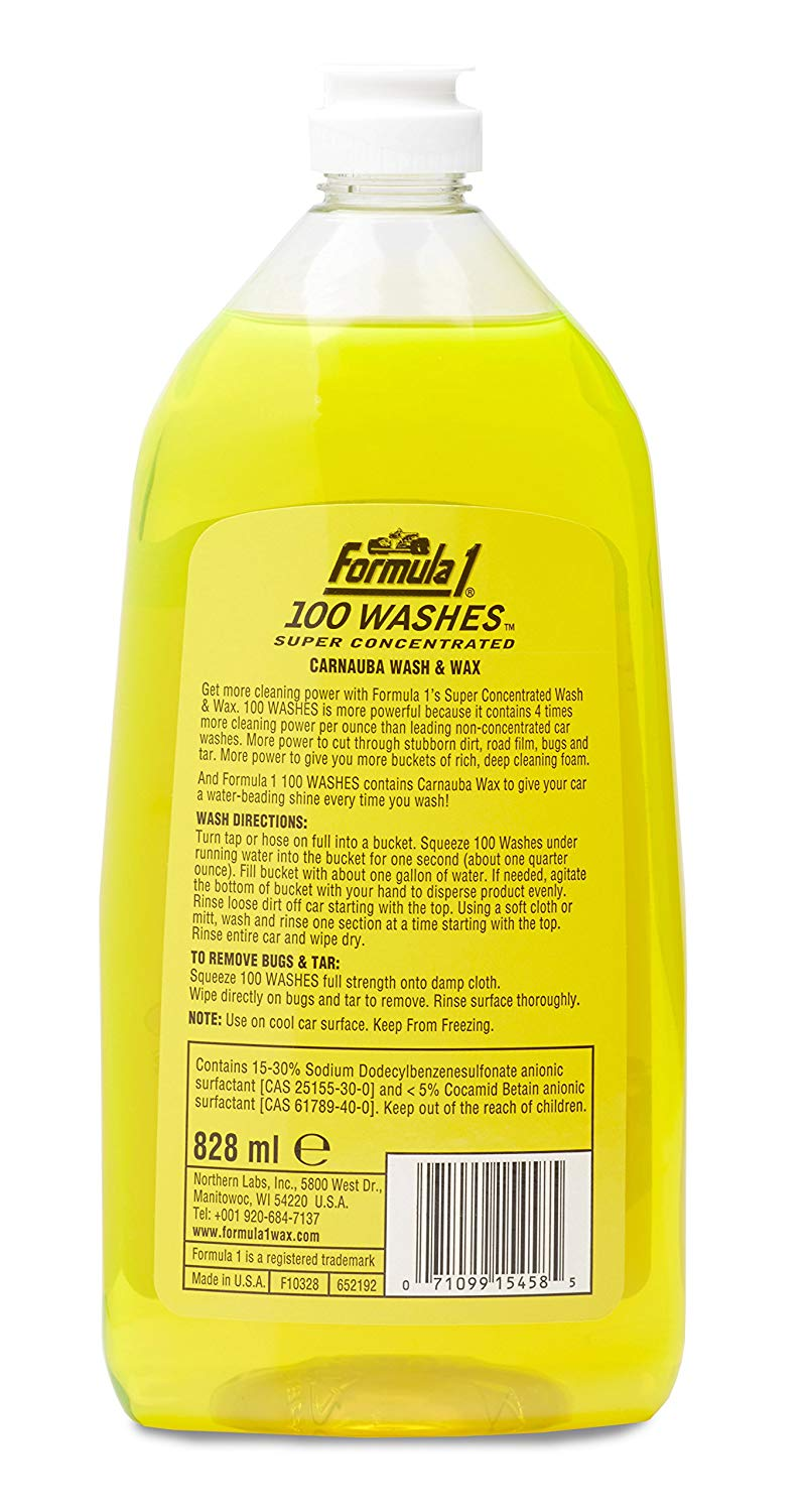Formula 1 100 Washes Wash & Wax 828ml