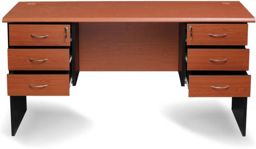 Nilkamal Madison Engineered Wood Office Table  (Free Standing, Finish Color - Brown)