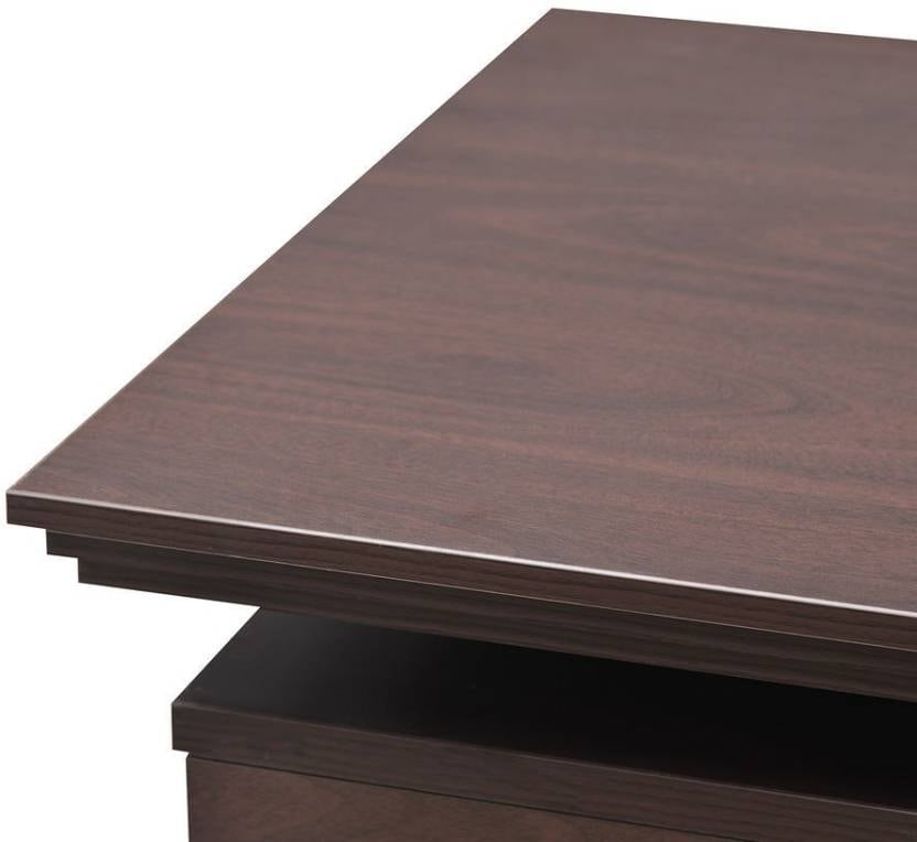 Nilkamal Wales Engineered Wood Office Table  (Free Standing, Finish Color - Mahogany)