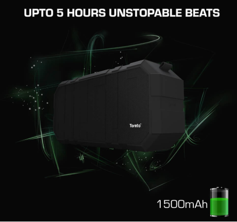 BOOM, 10W Bluetooth Speaker With Monstrous Sound And Mic