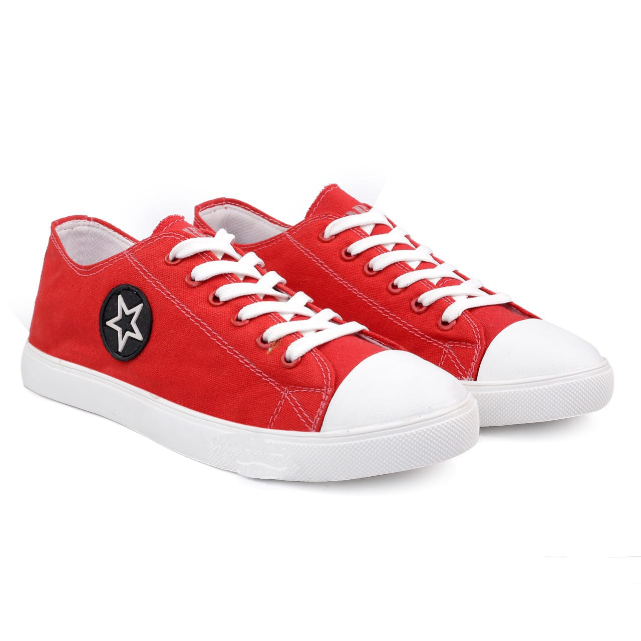 JK PORT Original Comfortable & Reliable JKPC55RED Casual Shoes In Sky Red Colour (Red, 6-10( Men`s), 8 PAIRS)