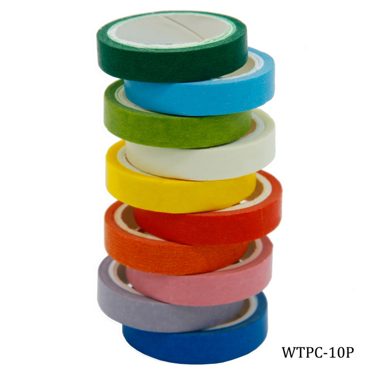 Washi Tape Set Of 10pcs Solid Colors Small (WTPC-10P)