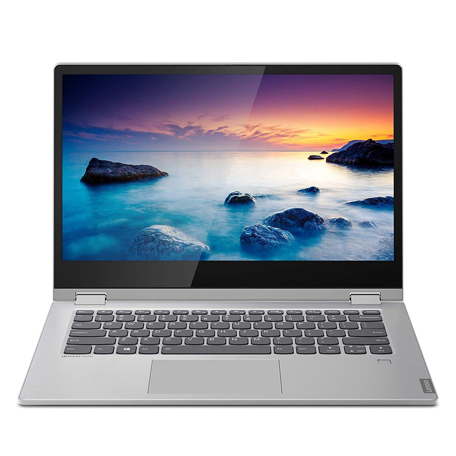 Lenovo Ideapad C340 Intel Core I3 8th Gen 14- FHD 2-in-1 Touchscreen Laptop ( 4GB RAM/ 256 GB SSD / Windows 10 / Office Home And Student 2019 / 1.65 Kg / Platinum ), 81N400CXIN