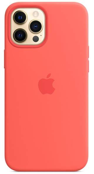Apple IPhone 12 Pro Max Silicone Case With MagSafe (Pink Citrus)