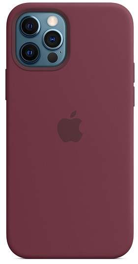 Apple IPhone 12, 12 Pro Silicone Case With MagSafe (Plum)