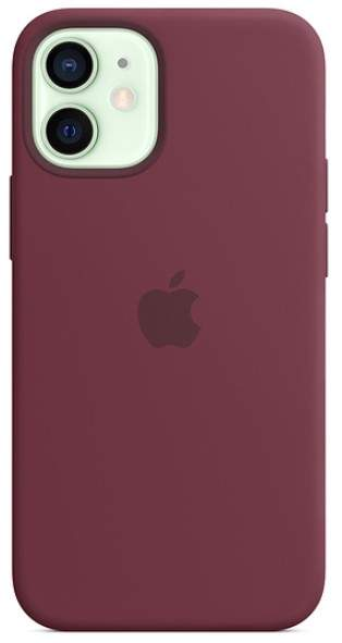 Apple IPhone 12 Mini Silicone Case With MagSafe (Plum)