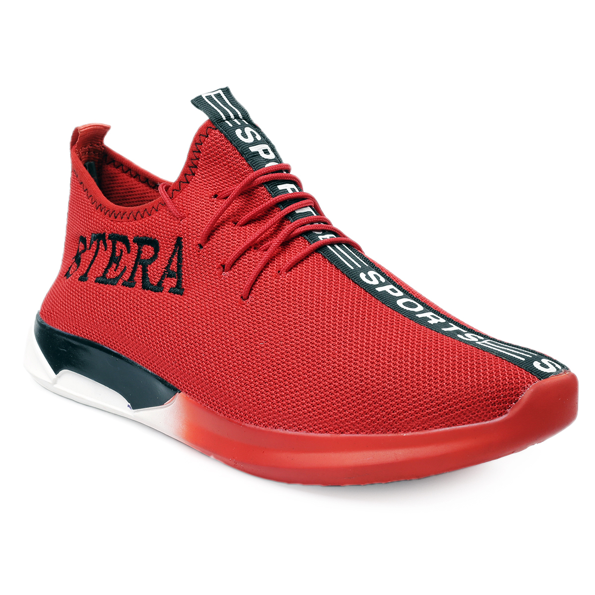 STERA SNEAKER SHOE SPT-1001RED (RED,7-10,8 PAIR)