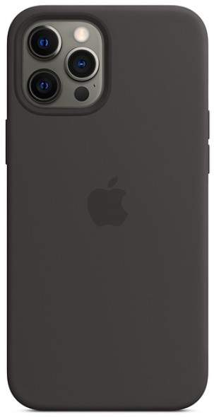 Apple IPhone 12 Pro Max Silicone Case With MagSafe (Black)