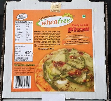 Wheafree Gluten Free Pizza(Sun.Delivery)