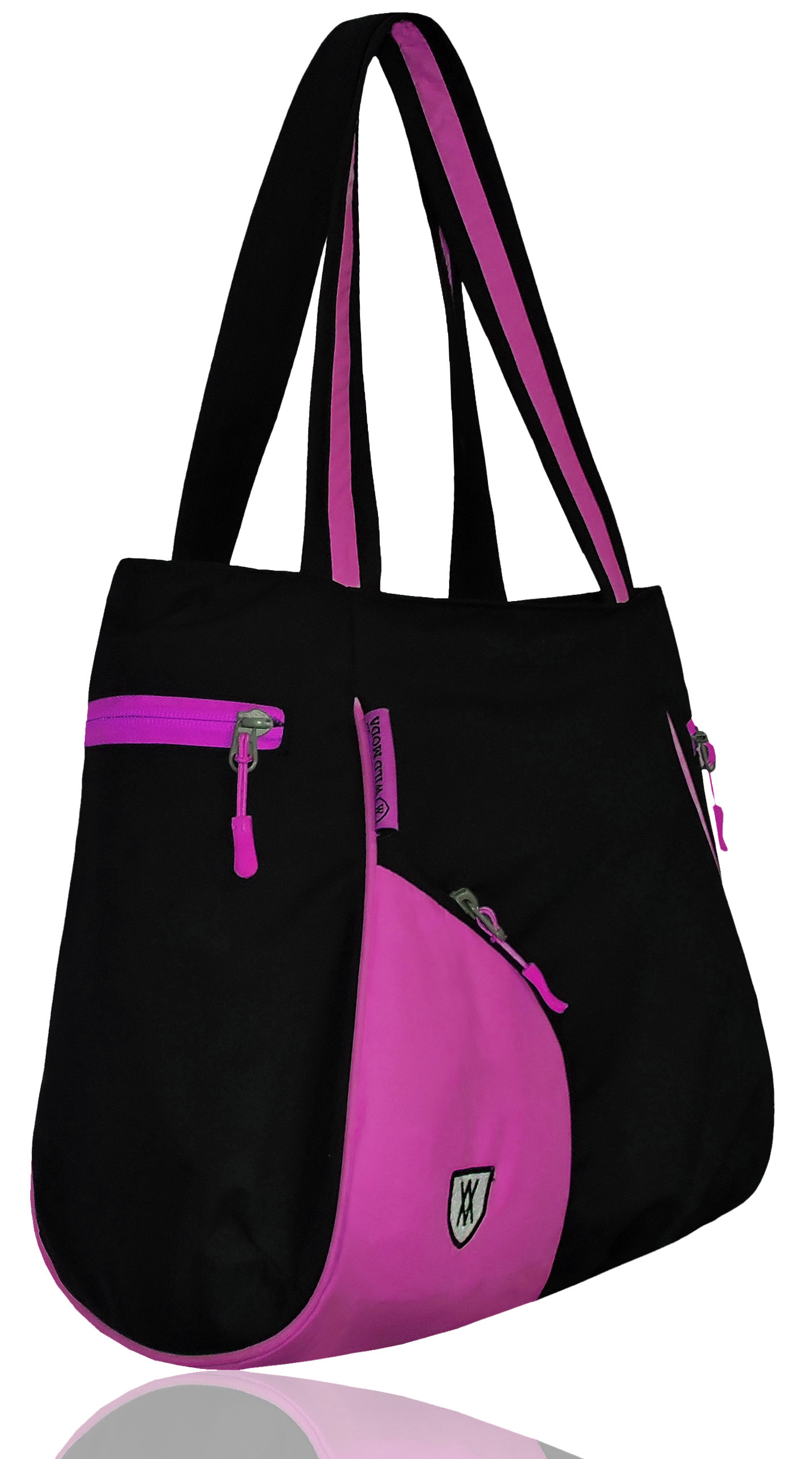 Wildmoda Women Black, Pink Tote