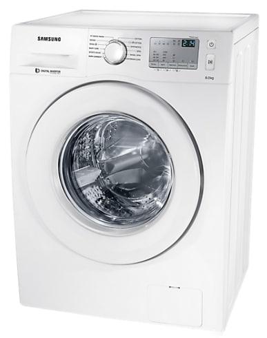 Samsung 8 Kg Fully-Automatic Front Loading Washing Machine (WW80J4233KW/TL, White)