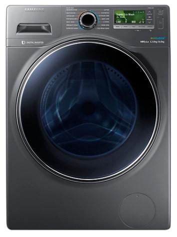 Samsung WD12J8420GX/TL Fully-automatic Front-loading Washing Machine (12 Kg, 3 Star Rating, Inox Body)