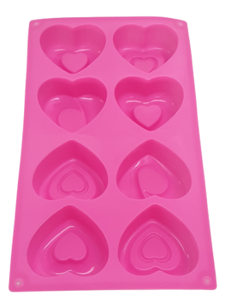 Heart Shape Muffin Tray 8Nos Silicon