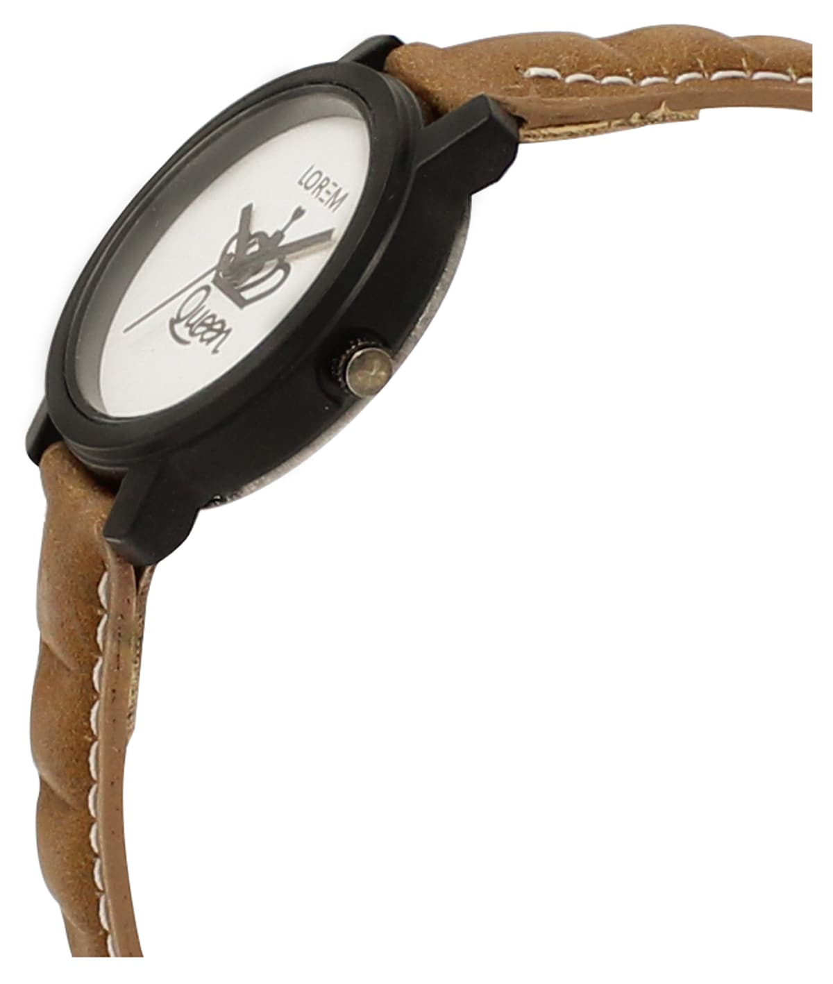 LOREM New Leather Strap Analogue Watch For Women & Girls